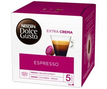 Кофе натуральный жереный, молотый  ESPRESSO, 16 капсул, 5219839, NESCAFE DOLCE GUSTO