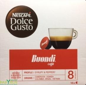 Кофе натуральный, жареный BUONDI, 16 капсул, NESCAFE DOLCE GUSTO