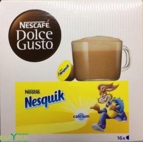 Напиток какао-кофейный  NESQUIK, 16 капсул, 12142996,NESCAFE DOLCE GUSTO