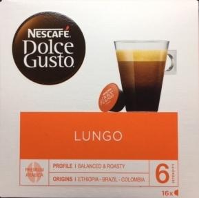 Кофе натуральный, жареный, молотый CAFFE LUNGO, 16 капсул, 5219842,NESCAFE DOLCE GUSTO